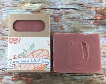 Palmarosa and Blood Orange Clay Soap