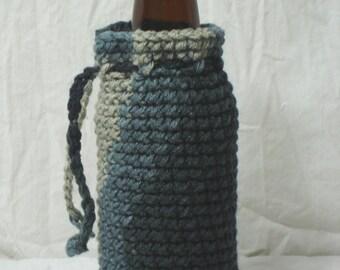 Urban Camo Portable Crochet Bottle Cozy