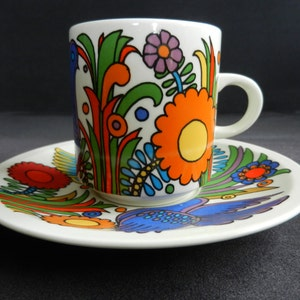 Vintage R\u00fcdesheim Fruit pot One-made Glass Heinrich Porcelain Villeroy and Boch Asbach Uralt R\u00fcdesheim am Rhein