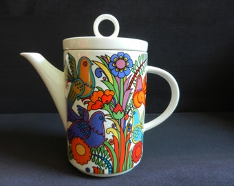 Villeroy & Boch ACAPULCO vitro porcelain coffee pot from the 60s