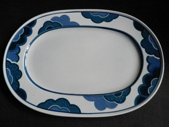 and Pepper spreader BLUE CLOUD Vitro porcelain from the 70s Villeroy /& Boch Salt