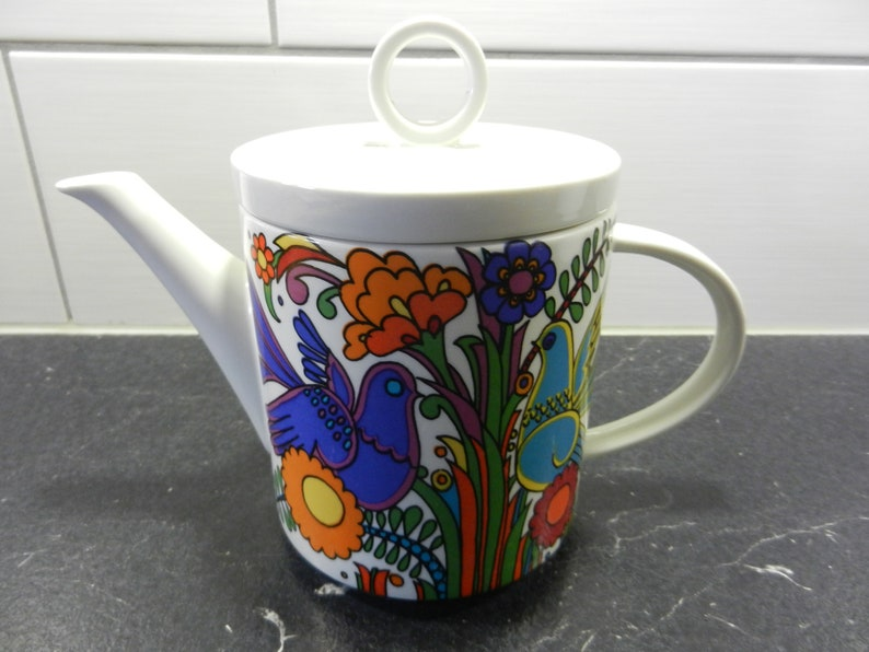 Villeroy & Boch ACAPULCO vitro porcelain tea pot from the 60s image 0
