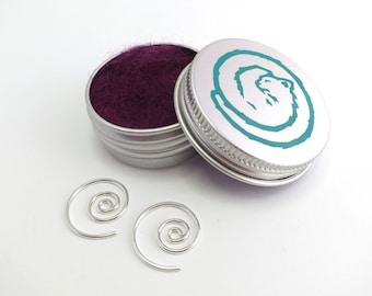 Sterling Silver Spiral Earrings - Hoop Earrings - Small Sleepers