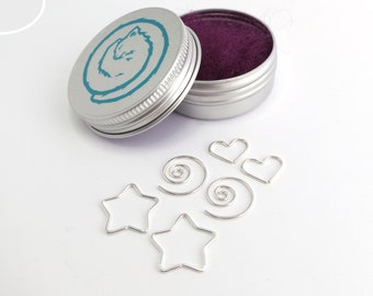 Trio Earring Gift Set, 3 PAIRS, Sterling Silver hoops, star, spiral, heart seamless sleepers, continuous hoops