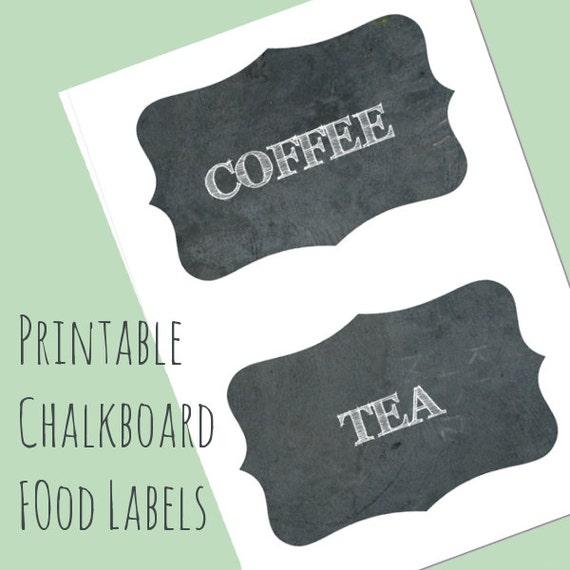 Druckbare kreideküste Küche Etiketten Etiketten von