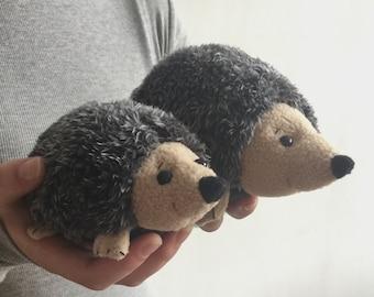 hedgehog with baby pdf pattern, hedgehog plush, hedgehog sewing pattern
