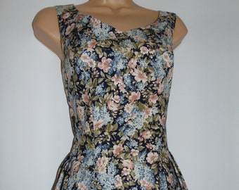 Laura Ashley Vintage Angelica Bouquet Summer Outfit -Dress & Jacket, Size UK 14