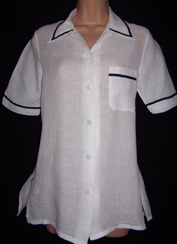 Laura Ashley Vintage Spring 95' Pure Linen Rare Na