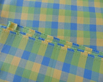 """Laura Ashley Mitford Check Discontinued Cotton Upholstery Fabric 130"""" x 56"""" New"""