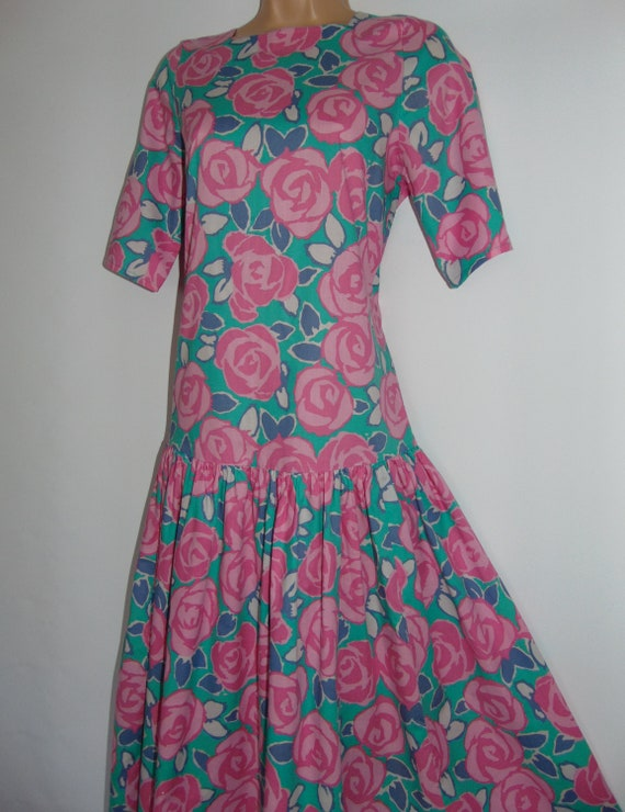 Laura Ashley Vintage Rare Sample Tea Dress - Candy