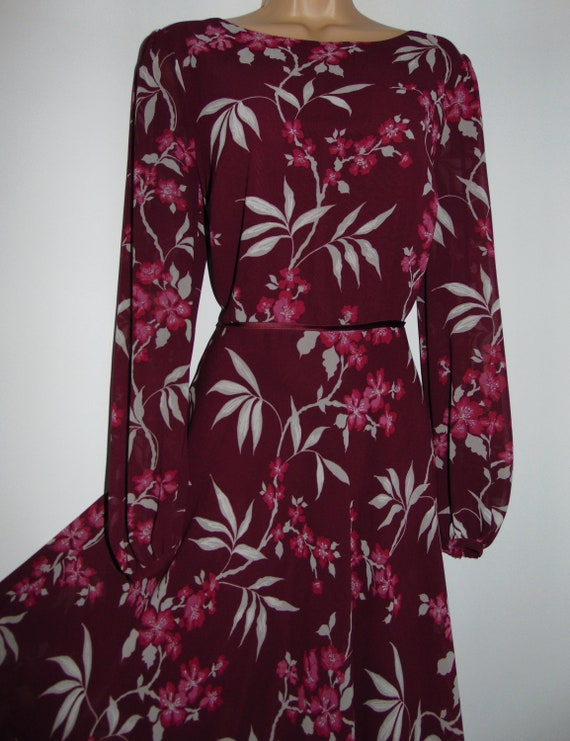 Laura Ashley Retro/ Vintage Inspired Crepe Voile O