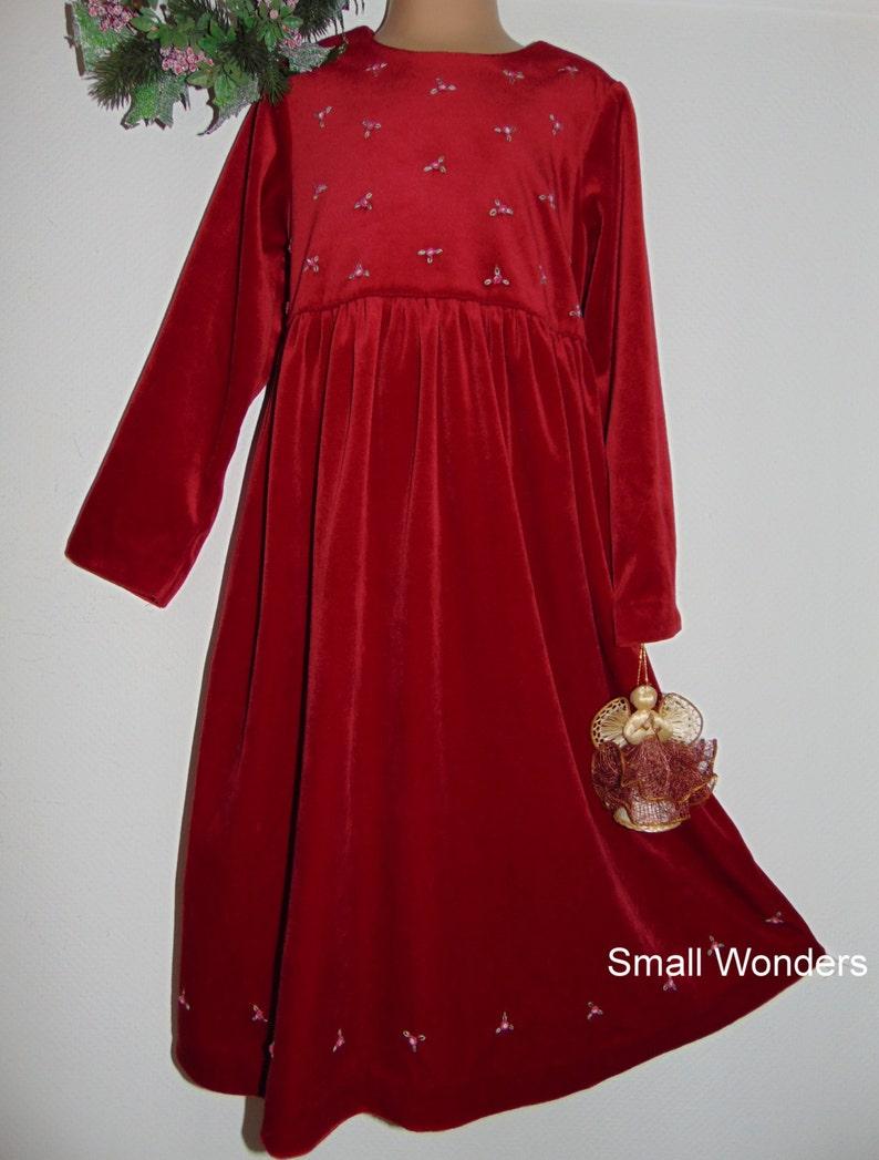 243368384d51 Laura Ashley vintage Mother   Child raspberry-red velvet party