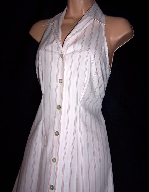 Laura Ashley Vintage 60's Inspired Striped Cotton