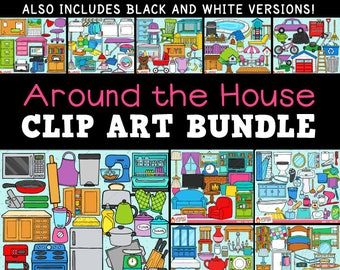 Around the House Clip Art Bundle - personal use/limited commercial use