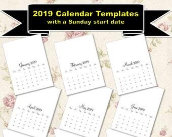 2019 Calendar Etsy