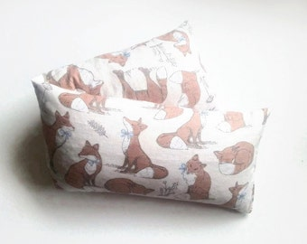 warming extra large lavender or No lavender and wheat bag in woodland fox chic cotton fabric