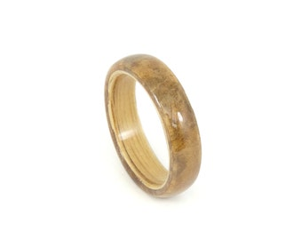 Bent Wood Rings, Oak & Elm Burl, Mens Wood Rings, Womens Wood Rings, Wood Engagement Rings, Wood Wedding Bands, Wooden Rings, Unique Rings