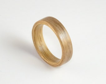 Bent Wood Ring - Oak and Walnut Made to Order In Any UK or US Size with Free Worldwide Shipping