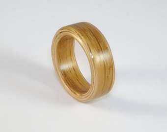 Oak Bent Wood Ring, Handmade to Order In Your UK or US Size.  Wooden Rings for Men or Women