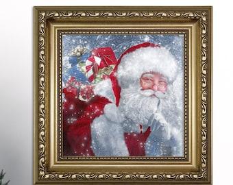 Christmas Canvas Art Etsy