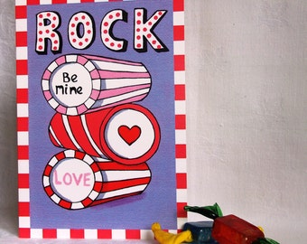 Candy Collection - Rock greeting card