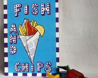 Candy Collection - Fish & Chips greeting card