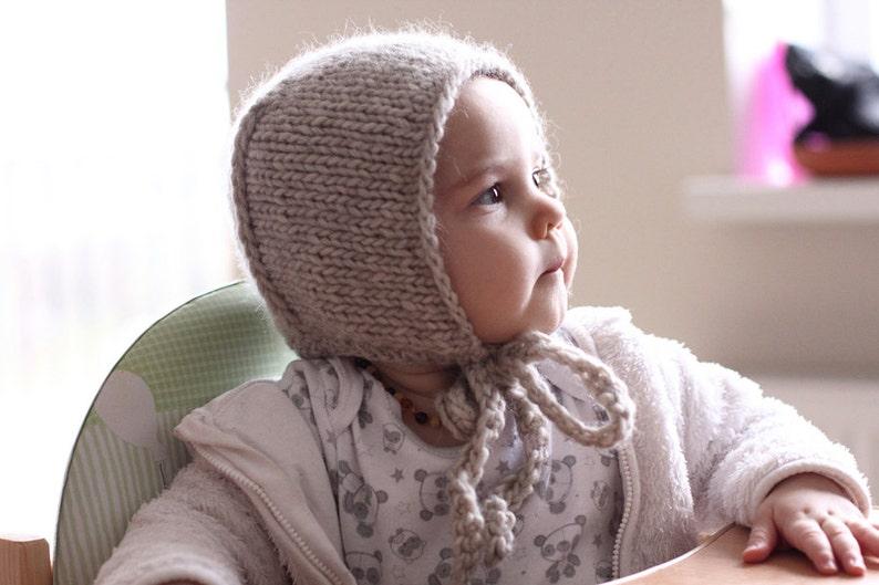 d657974aa96 Light brownish gray knit alpaca merino wool blend newborn baby