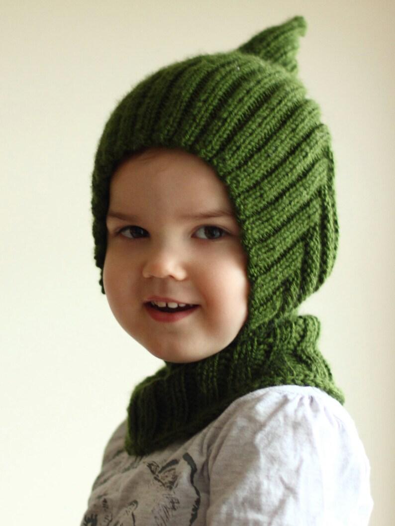 b8c03b889b9 Baby toddler balaclava hood knitted handmade warm soft hat