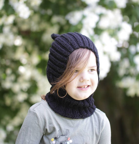 39006f921ff knitted warm and soft baby balaclava hood hat with collar