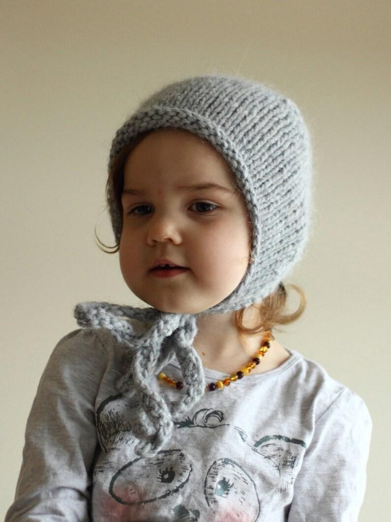 75262308c44 Knit warm alpaca bonnet winter bonnet baby bonnet toddler