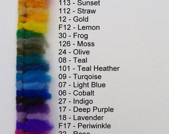 Felting Wool, roving, Merino, Rambouillet, Canadian Wool, wet felting, needle felting, make your own dryer balls