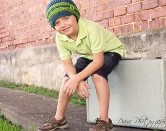Crochet toddler / child Newsboy hat  photo prop custom made to order