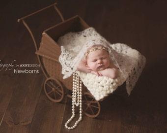 Crochet Mohair Wrap - Newborn photo prop - Custom made to order