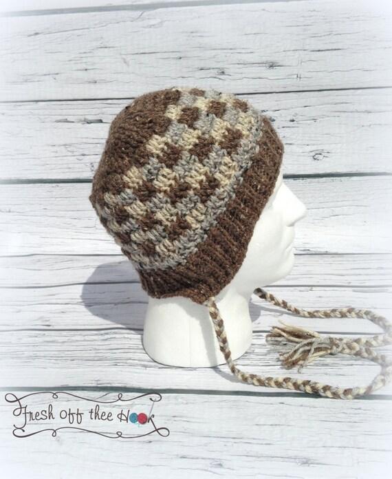 Crochet el recién nacido Niño Patchwork canillita botón tapa | Etsy