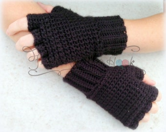 Crochet Women's fingerless cut off texting gloves - One size fits most Custom made to order