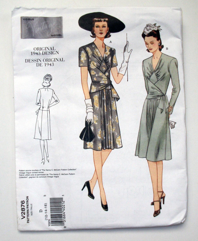 Wrap Dress Sewing Pattern Interesting Design