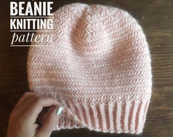 KNITTING PATTERN: Herringbone Beanie
