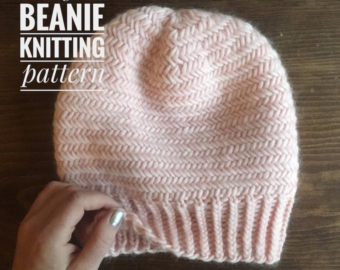 KNITTING PATTERN: Herringbone Beanie