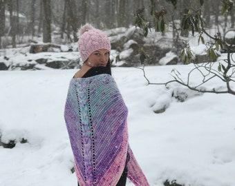 Knitting Pattern: Big Braid Shawl