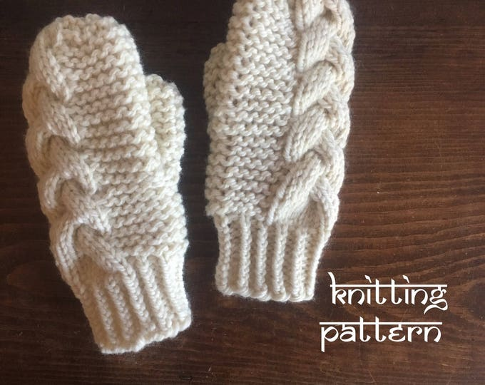 KNITTING PATTERN: Braided Cable Mittens | PDF Download