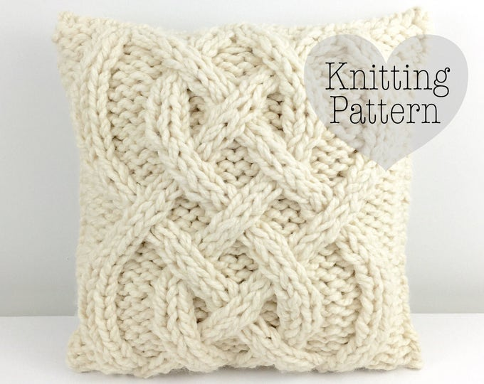 KNITTING PATTERN: Braveheart Cable Pillow