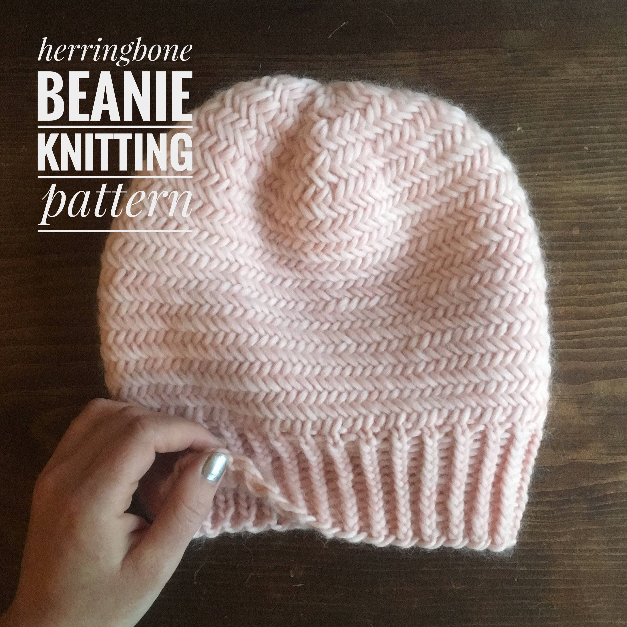KNITTING PATTERN: Herringbone Beanie from PremKnits on Etsy Studio