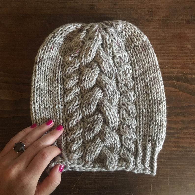9c92decfd6e KNITTING PATTERN  Tres Cable Beanie
