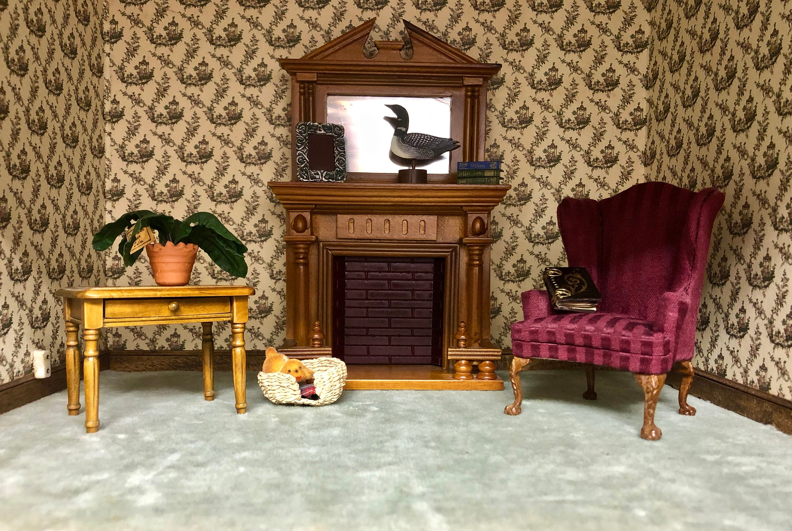 1 12 Scale Dollhouse Living Room Furniture Lot 10 Pc Set Etsy