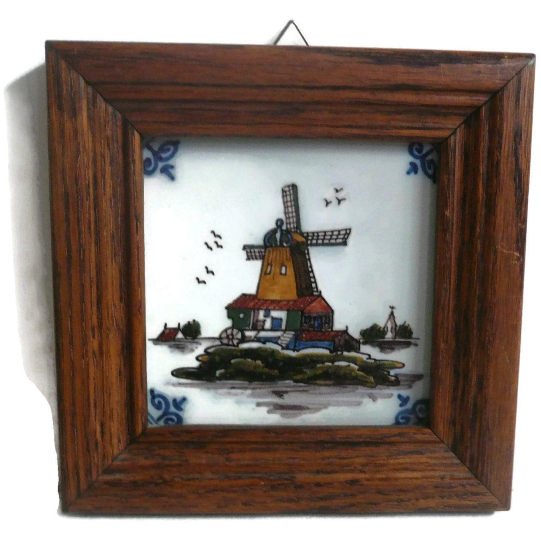 Königliche Tichelaar Makkum holländische Windmühle Fliesen /