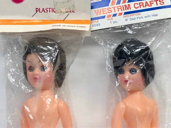 Vintage Doll Animal Puppet Craft Acrylic Plastic Nose 18mm Made Japan 10 Each