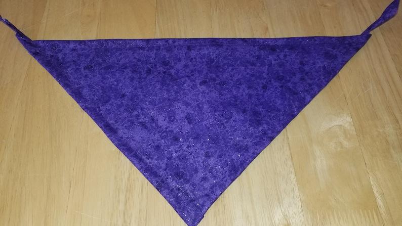 Purple Sparkly Bandana