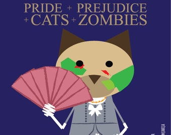 Pride and Prejudice and Zombies. sticker 3.9 x 3.9 in