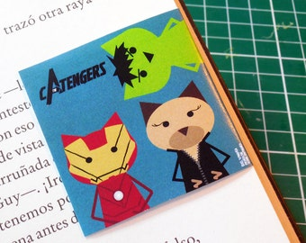 The Avengers, Magnetic Bookmark 2 x 2 in
