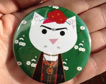 Frida Kahlo, pinback button 2.16 in